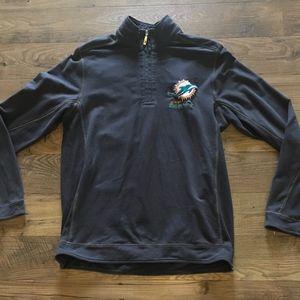 Tommy Bahama Miami Dolphins 1/4 Zip Sweatshirt M
